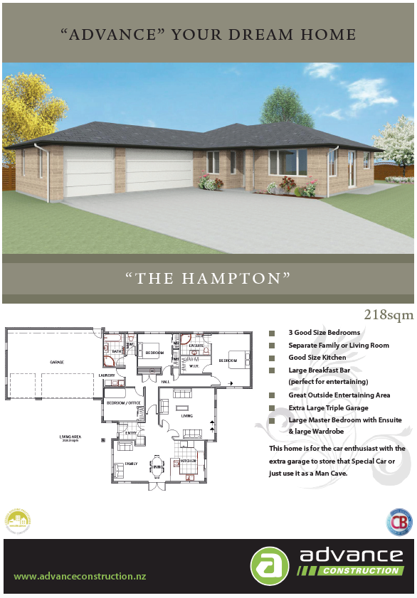 Advance Construction - Hawkes Bay - New builds, home land packages.